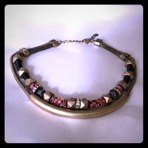 Zara brass necklace